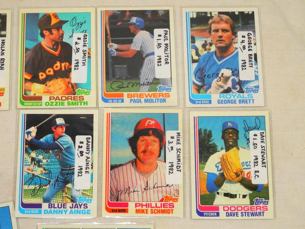 16 Vintage 1982 Topps Baseball Keyrookie Cards