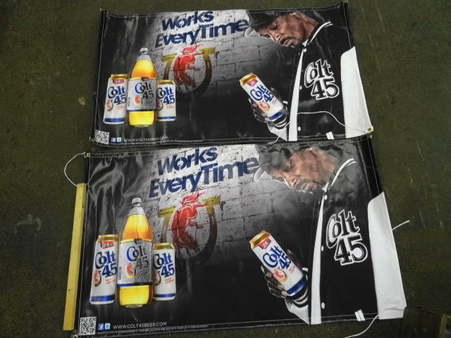 2 Colt 45 Malt Liquor Snoop Dog Beer Wall Banners