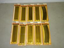 10 TYCO HO TRU-STEEL TRACK IN ORIGINAL BLISTER PACKS