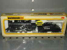 BACHMANN HO AT&SF USRA 0-6-0 STEAM ENGINE WITH SLOPE TENDER #2126