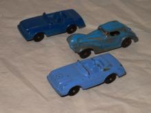 3 VINTAGE TOOTSIE TOY DIE-CAST MERCEDES CARS