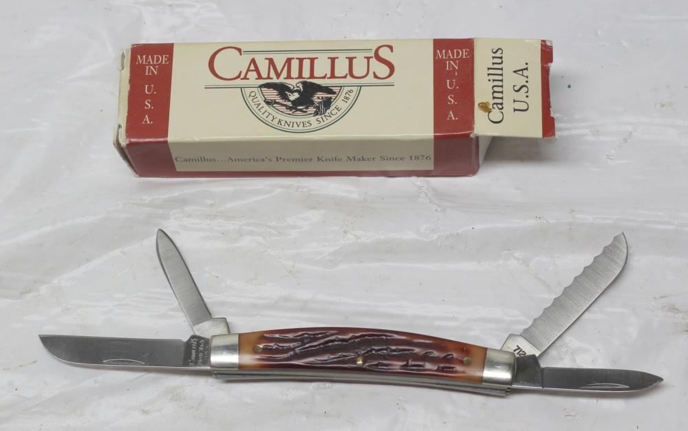 4 Blade Camillus Knife w/Box