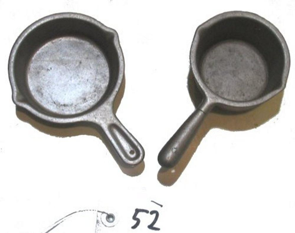2 Hammered Aluminum Toys