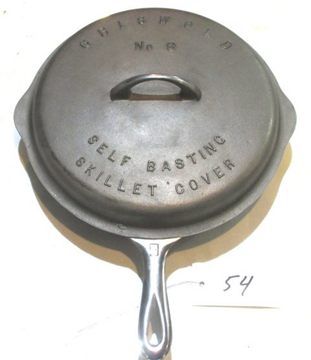 #9 Griswold LBL Chrome Skillet with Lid