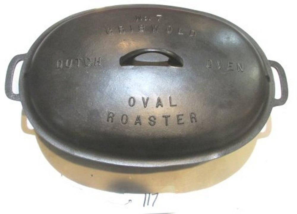 #7 Griswold Oval Roaster with Lid