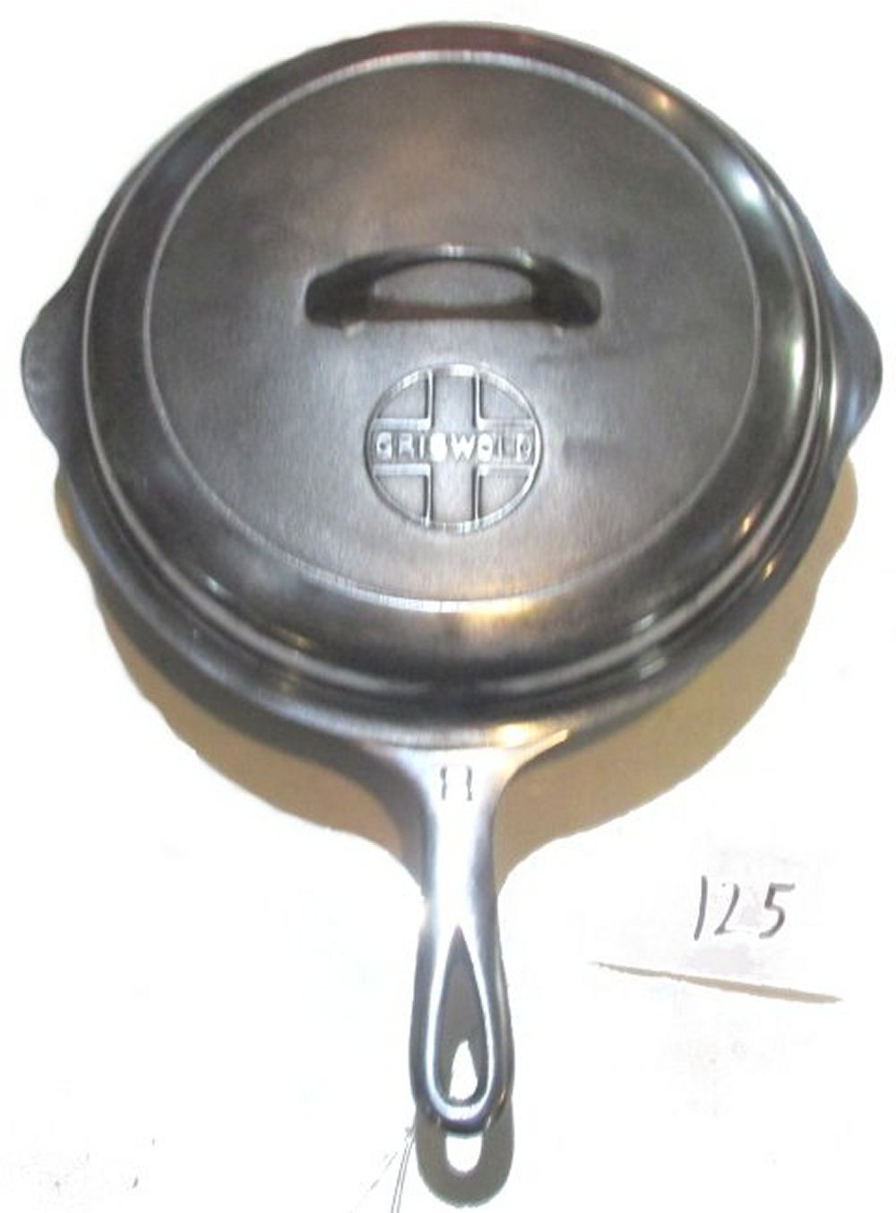 #8 Griswold Chrome Chicken Fryer with Lid