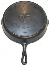 Lot 192: #12 Griswold EPU LBL Skillet with Heat Ring