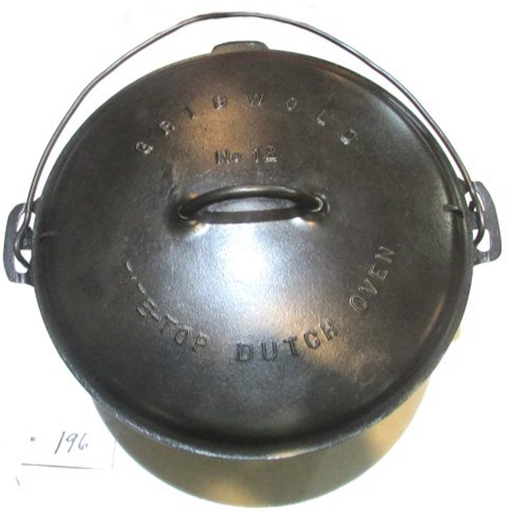 #12 Griswold Dutch Oven with Lid