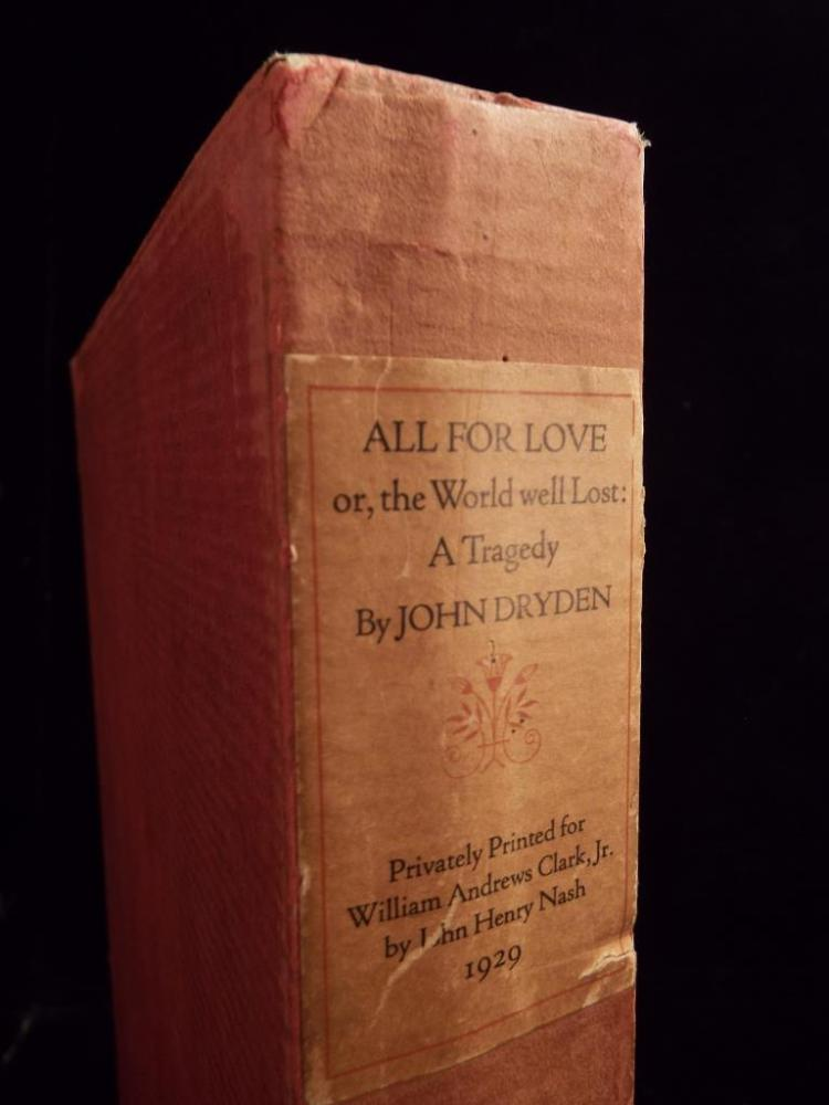 "all for love by john dryden ""dryden is a major figure of the restoration, writing in almost all of its  which  john dryden should be brought into the twenty-first-century college classroom."