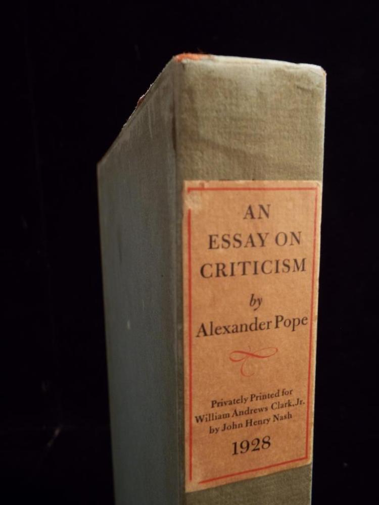 criticism of alexander pope essay