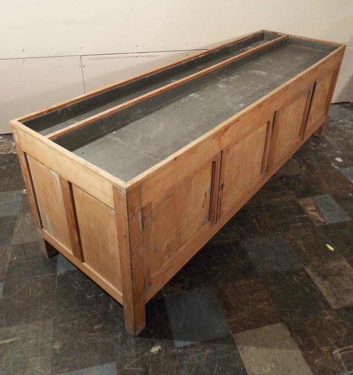 Antique Dry Sink Potting Bench Cabinet