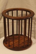 Arthur Umanoff Round Spindle Wast Basket