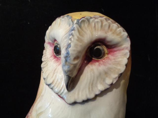 Vintage Italian Capodimonte Style Ceramic Owl