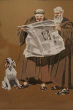Nancy Dyer (1903-1979) Watercolor / Gouache