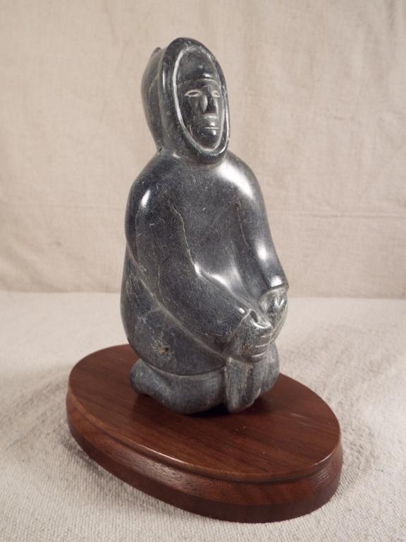 Canada eskimo art stone carving of figure