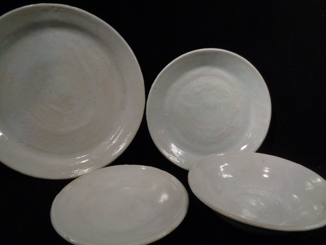 Collection Of Hand Thrown Pottery Bowls Plates