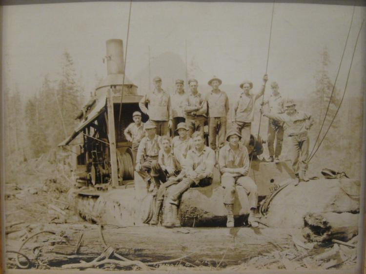 Darius Kinsey Northwest Logging Photograph