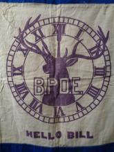 Vintage BPOE Elks Banner Flag
