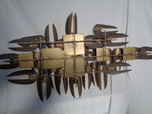 Large Mid Century Metal Wall Sculpture