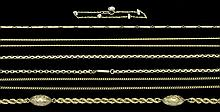 A collection of four Victorian gold chain necklaces