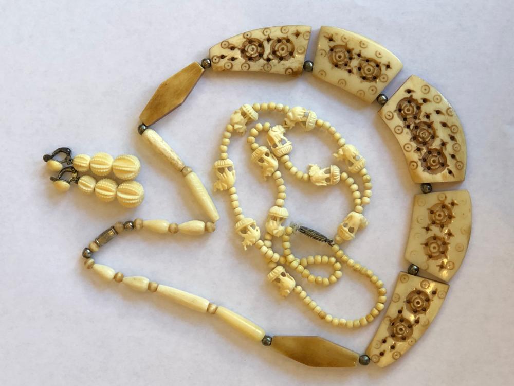 Carved Bone Jewelry