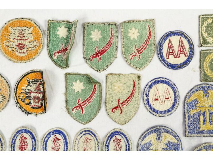 U S  WWII Army Patches, 26 Count