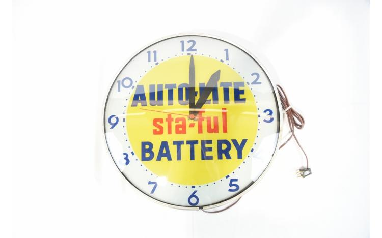 autolite sta ful battery clock. Black Bedroom Furniture Sets. Home Design Ideas
