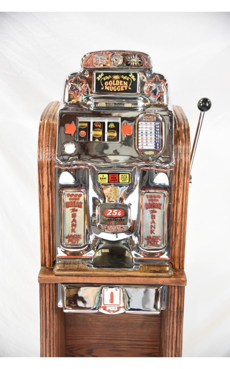 25 Cent Jennings Chief Golden Nugget Slot Machine