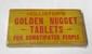HOLLISTER'S GOLDEN NUGGET TABLETS DISPLAY
