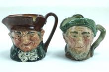 Two Royal Doulton Miniature Toby Mugs