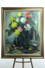 Sergei Bongart Oil Painting on Canvas Still Life