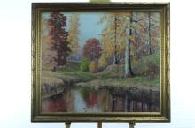 William T. Turman Framed Oil Painting on Masonite