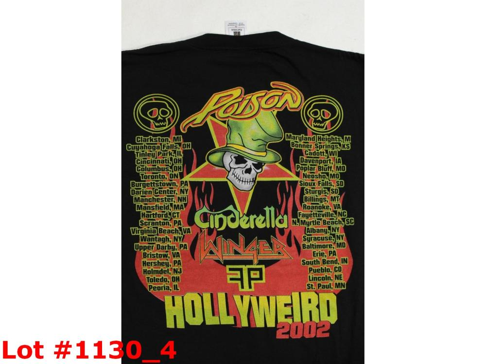 Poison Hollyweird Tour 2002 Concert T-shirt XL