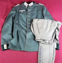 Nazi Officer's Parade Dress Tunic & Riding Pants