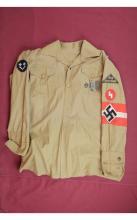 Nazi Hitler Youth Shirt w/Armband & Various Badges