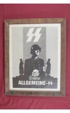WWII Nazi Unsere Allgemeine SS Recruitment Poster
