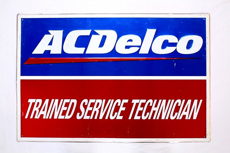 AC Delco Trained Service Technician Shop Sign