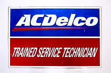 AC Delco Trained Service Technician Shop Sign