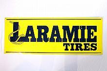 Laramie Tires Single Sided Tin Sign