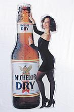 Michelob Dry Single Sided Tin Sign