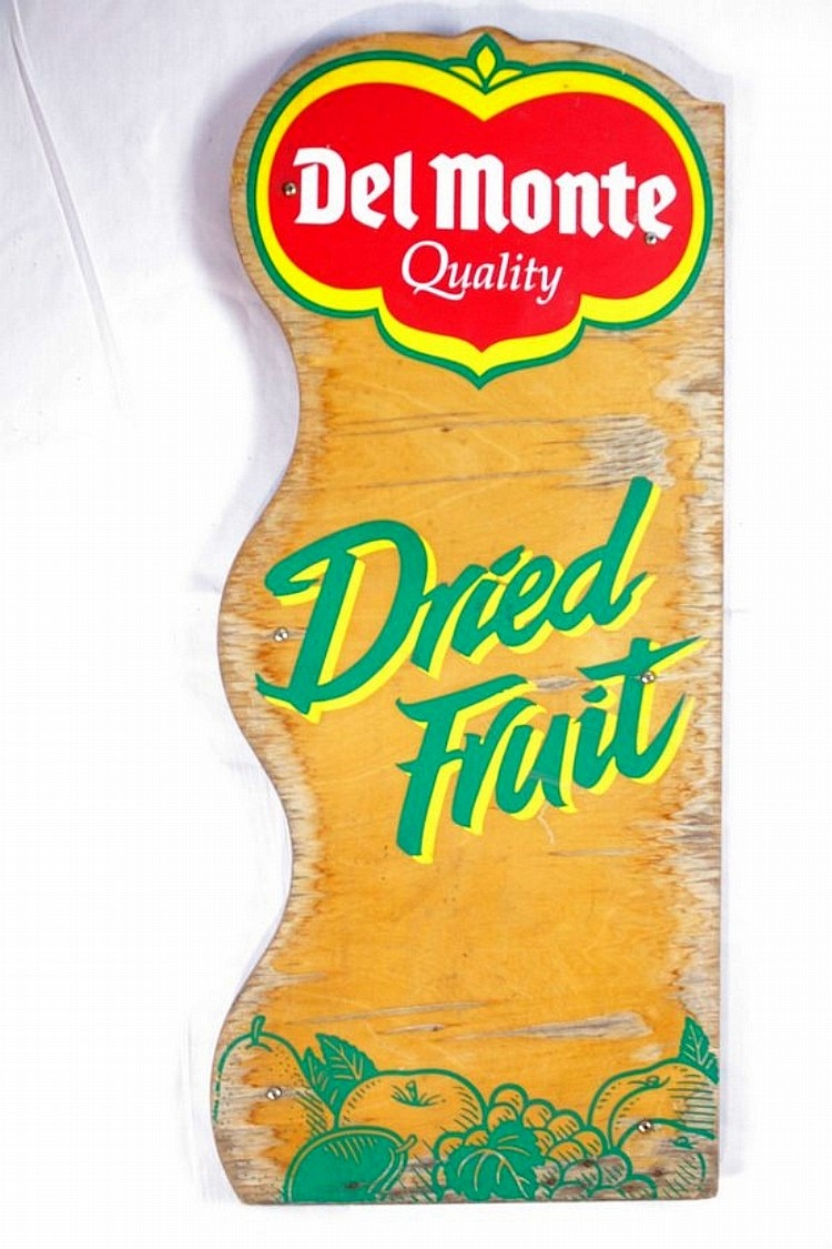 Wooden Del Monte Dried Fruit Sign