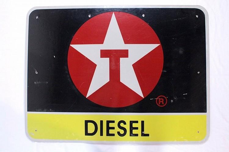 Texaco Diesel Reflective Steel Sign