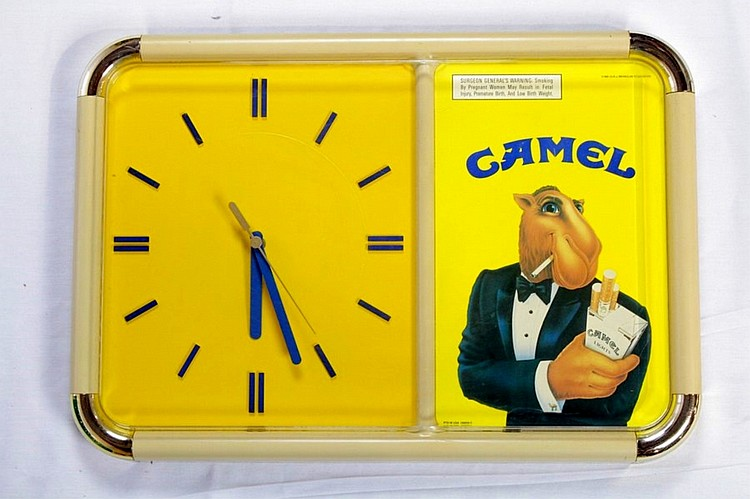Camel Cigarettes Clock