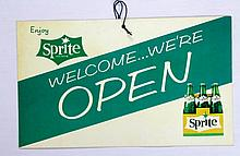 Sprite Welcome We're Open/Closed Business Sign