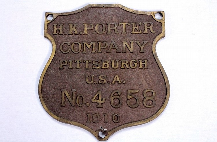 H.K. Porter Company Shield Wall Placard