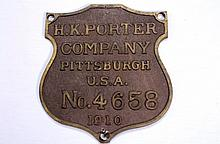 H.K.Porter Company Shield Wall Placard