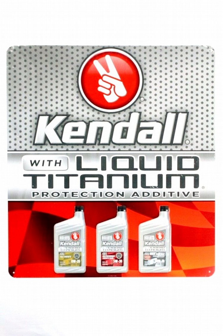Kendall Oil with Liquid Titanium SST Sign
