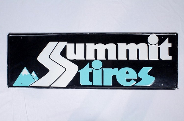 Summit Tires Single Sided Tin Sign