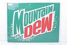 Mountain Dew Tin Display Sign