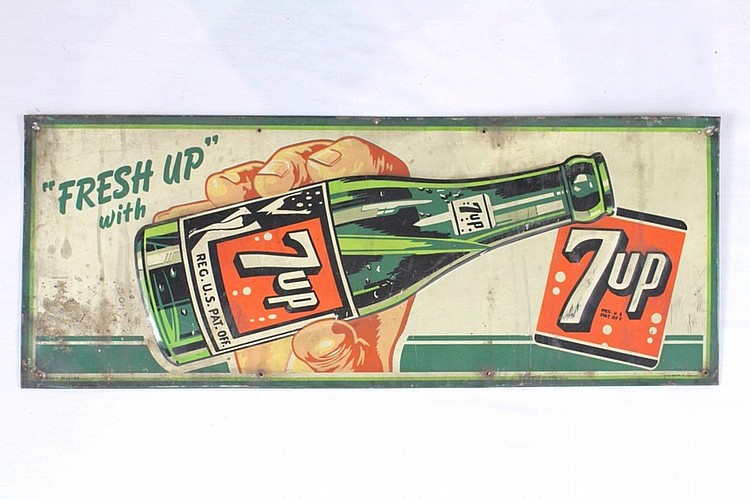 7 Up Single Sided Tin Sign